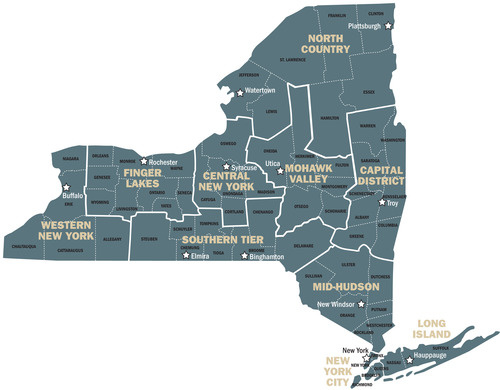 NY Regions under Governor Cuomo